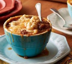 French Onion Mac and Cheese Soup