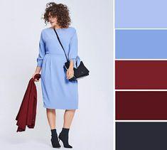 Color Combinations For Clothes, Color Combos, Fashion 2018, Womens Fashion, Blue Colour Palette, Colour Palettes, Fashion Dictionary, Plus Size Beauty, Western Outfits