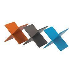 NORNÄS Wine rack, orange, blue/grey 33x37x33 cm orange/blue/grey