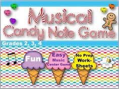 Click now to instantly download your exciting Musical Candy Note Game. Your class will love working on their music notes with these fun music worksheets that are ready to print and use. It includes:*Exciting Musical Candy Note Game*Instant Print & Play Music Note Cards*No -Prep Music Worksheetsfor Assessments*Fun game, can be use for Centers or Substitute Lessons*Easy Note Answer Key provided for students to play the game*Teacher Tips IncludedIf you like this product, please take a minu...