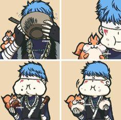 Akatsuki no Yona / Yona of the dawn anime and manga    Shin ah and Ao chapter 128 Big and small kitty xD pukyuu~