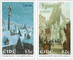 Stamp - PJ Lynch Gallery: Two New Stamps: The Happy Prince and Gulliver's Travels
