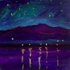 Stargazing from the Champlain Islands (painting by Elizabeth Fraser)