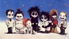 Endless Family from left to right... Desire, Despair, Delirium, Dream, Death…