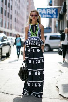 Bold maxi street style, New York fashion week SS14 | www.angelinthenorth.com