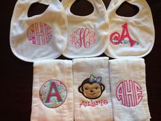 Embroidery - Burp Cloth and Bibs