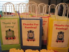 Thomas the Train Treat Bags For The Guest