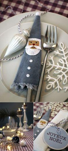Christmas Table - cute Santa decoration