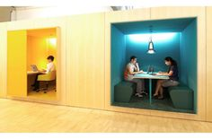 Vitras German Workplace Citizen Office - Collaboration space & enclosed work space.