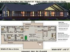 ***** 5 Star 5 bedroom house plans - 5 Bedroom Home Designs House Plans For Sale, Metal House Plans, Pole Barn House Plans, House Plans One Story, Family House Plans, Country Style House Plans, Ranch House Plans, Best House Plans, Country Style Homes