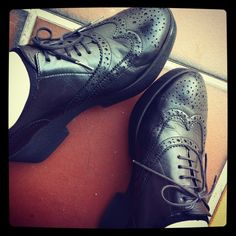 My shoes ... Robert Clergerie lace-up wedge brogues ... one of my most comfortable pairs of shoes