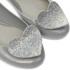 fea580a332f9 womens zaxy grey pop heart luxe flats Melissa Shoes