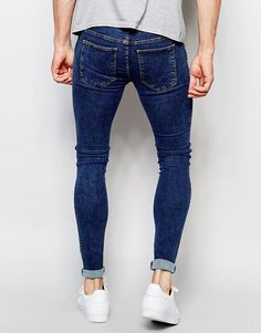 Dr Denim Jeans Dixy Extreme Super Skinny Stone Wash at ASOS. Tight Jeans Men, Moda Casual, Mens Fashion, Fashion Outfits, Skin Tight, Super Skinny Jeans, Acne Studios, Denim Jeans, Cool Outfits