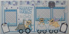 2 Premade 12x12 Scrapbook Pages  Freezin' Season  By by bearblue, $39.99