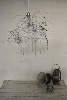 objets fils de fer sculptures et objets: Nuageux...