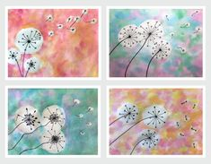 art room Dandelion Puffs Grade Art with Mrs Filmore Winter Art Lesson, Dandelion Art, Spring Art Projects, Art