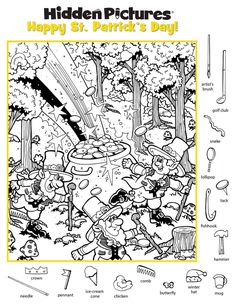 Find The Hidden Objects, Search And Find, Hidden Pictures, Artist Brush, I Spy, Sunday School, Ideas Para, Coloring Pages, Easter