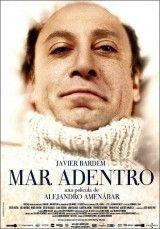 Mar adentro(tetraplejia). Biografía de Ramón Sampedro, quien tras llevar postrado en una cama durante treinta años, desea que alguien le ayude a morir dignamente