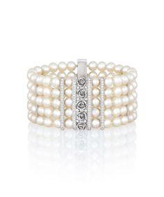Verena Pearl Cuff Bracelet with freshwater pearls Freshwater Pearl Bracelet, Pearl Jewelry, Diamond Jewelry, Jewelery, Fine Jewelry, Bangle Set, Bangle Bracelets, To Infinity And Beyond, Jewelry Branding