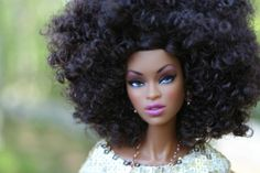 Natural Hair Group In Georgia Gives Black Barbie Dolls A Natural Hair Makeover using pipe cleaner tutorial