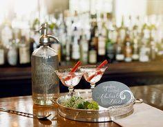 Vintage cocktails - rhubarb is one of my favorite things.