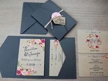 POCKETFOLD Einladungskarten Set Vintage Hochzeit