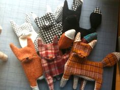 First six foxes unstuffed | Flickr - Photo Sharing!