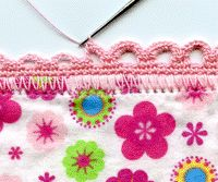 Crocheted trims - perfect for baby receiving blankets ...