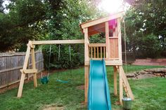 On a Slope and SMALL! Natural State Treehouses: Gribble Family Clubhouse