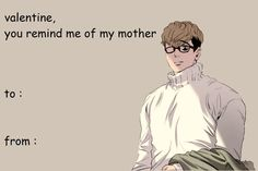 Shared by いずみ. Find images and videos about manhwa, killing stalking and sangwoo on We Heart It - the app to get lost in what you love. Valentines Anime, Funny Valentines Cards, Diabolik Lovers, Fb Memes, Funny Memes, Anime Manga, Anime Guys, Anime Pick Up Lines, Killing Stalking Memes