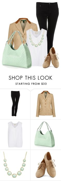 """Mondani Palmer Hobo"" by chebear ❤ liked on Polyvore featuring Armani Jeans, Lauren Ralph Lauren, Mondani, Towne & Reese and mint"