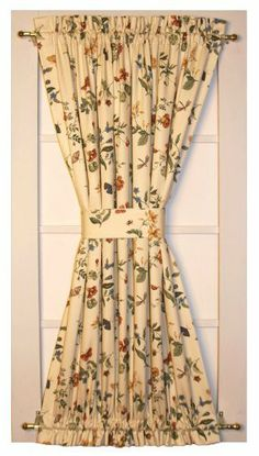 Hannah's Garden Door Panel Curtain With Tie Back 40-Inch-by-40-Inch by Window Toppers. $23.00. Made in the USA !; for single door windows or use two on french doors; many coordinating items available; 100% cotton Waverly fabric; two 1 1/2 rod pockets, top and bottom. Our Hannah's Garden Door Panels / Door Window Curtains are made from high quality medium weight 100% cotton duck Waverly country floral print fabric. Our Door Panel Curtains are perfect for use in singl... Door Panel Curtains, Curtain For Door Window, Door Panels, Door Window Covering, Window Coverings, Floral Print Fabric, Floral Prints, Bay Window Treatments, Window Toppers