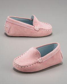 start them early.....Tod's Baby Loafer, Pink - Neiman Marcus been looking for these!!!