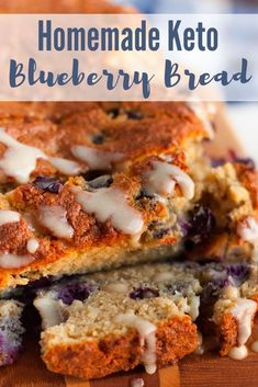 Easy Homemade Keto Blueberry Bread {low carb friendly} Easy Homemade Keto Blueberry Bread that is easy to make, delicious, and it doesn't taste eggy at all. This is a great keto bread recipe you'll love! Low Carb Bread, Low Carb Keto, Low Carb Recipes, Diet Recipes, Bread Recipes, Pudding Recipes, Coconut Flour Recipes Low Carb, Seafood Recipes, Smoothie Recipes