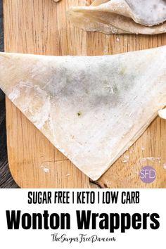 Low Carb Wonton Wrappers #lowcarb #keto #Asian #recipe #appetizer  #wonton #wanton