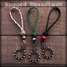 Rosary Ring Loops - Copper Catholic Cross Necklace, Catholic Jewelry, Rosary Catholic, Paracord Rosary, Crochet Placemats, Fidget Quilt, Rosary Bracelet, Baubles And Beads, Diy Keychain