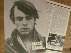 Mark Hamill, Star Wars, Two Page Vintage Clipping