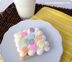 Amazing sugar cookie bars.  No rolling pin necessary to enjoy homemade sugar cookies.