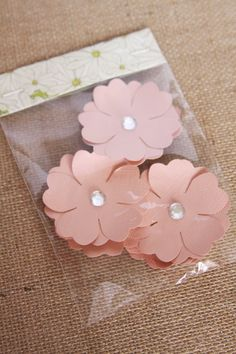 Handmade Flowers in Peach Handmade Paper by Summertimedesign, $3.75