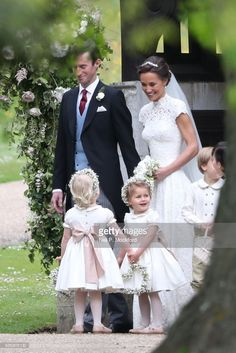 News Photo : Bride Pippa Middleton and her new husband James...