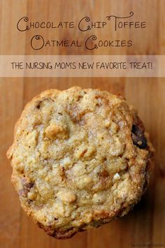 Chocolate Chip Toffee Oatmeal Cookies aka the *BEST* lactation cookies ever!! If you're a nursing mama trying to maintain or increase your supply - give these a go!