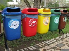 Recycling containers in Curitiba, Brazil