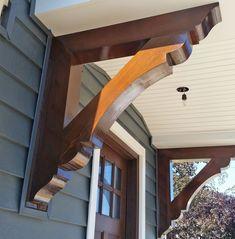 Do Pergolas Give Shade Code: 7382741487 Front Porch Pergola, Front Door Awning, Garage Pergola, Front Porch Design, Corbels Exterior, Craftsman Exterior, Wooden Corbels, Corbels Shelf, Shelf Brackets
