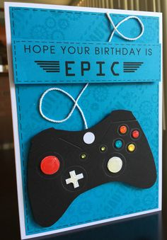 Video game control birthday card for nephew Genki. May 2016.