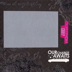 Prom Night Premade Scrapbook Page 8x8 Black White Gray Pink Teen Teenager