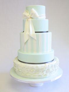 Pastel Blue Wedding Cake