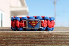 Superman Paracord Bracelet by Penstres on Etsy