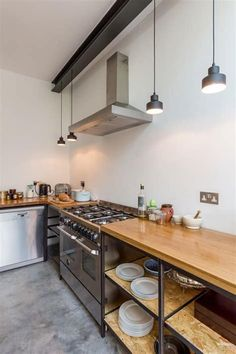 25 Wonderful Industrial Kitchen Ideas That. If you are looking for Industrial Kitchen Ideas That, You come to the right place. Below are the Industrial Kitchen Ideas That. This post about Industrial . Industrial Kitchen Design, Rustic Kitchen, Diy Kitchen, Kitchen Ideas, Kitchen Cabinets, Kitchen Appliances, 10x10 Kitchen, Smeg Kitchen, Kitchen Hacks