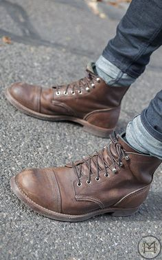 What I think of when I say boots, and might I add brown is a nice neutral color for shoes that can make a 1-2 combo with a matching belt: