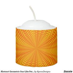 Shop Abstract Geometric Sun-Like Pattern Candle created by AponxDesigns. Candles, Sun, Abstract, Pattern, Design, Home Decor, Homemade Home Decor, Summary, Model